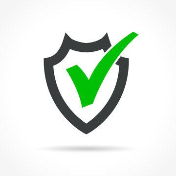 shield icon on white background