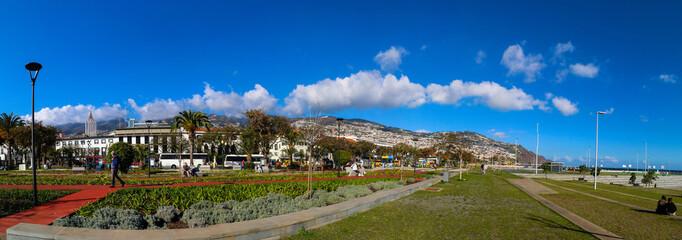 Hafen Panorama von Funchal, Madeira