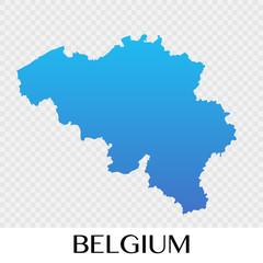 Belgium map in Europe continent illustration design