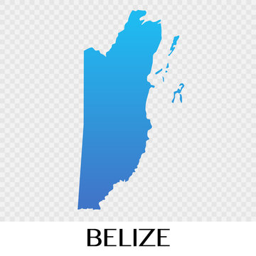 Belize map in North America continent illustration design