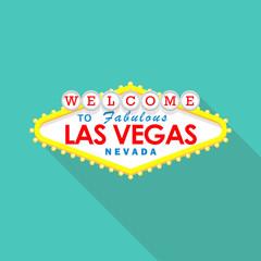 Classic retro Welcome to Las Vegas sign