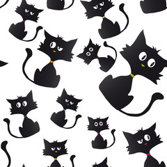 Black cat cartoon sample background