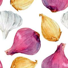 Watercolor onion pattern