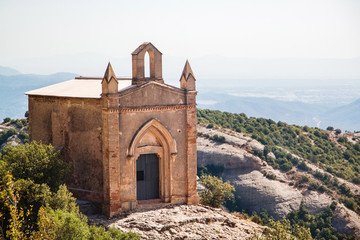 Sant Joan Chapel in Montserrat. Catalonia. Spain.