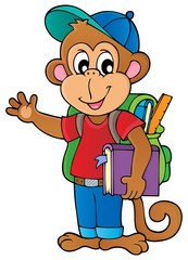 School monkey theme image 1