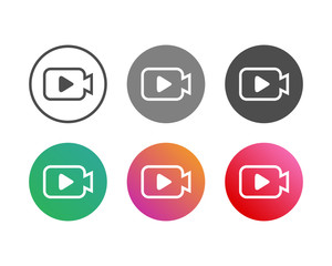 Simple Camera Video Icon Set