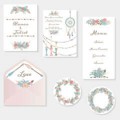 Wedding invitation cards suite