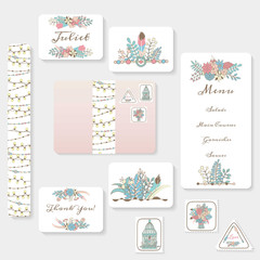 Wedding invitation cards suite