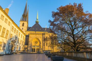 Foto op Aluminium Monument Cathédrale Notre-Dame de Luxembourg