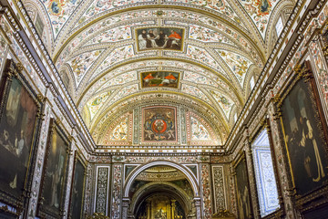 Ceiling of Guadalupe Monastery Sacristy and Saint Jerome Chapel,  Caceres, Spain