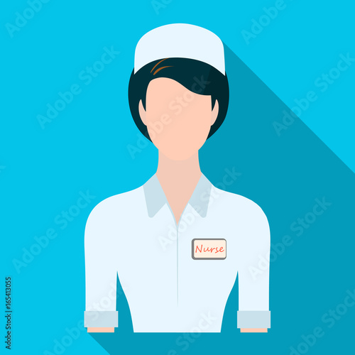 Medical Staff In The Hospital Medicine Single Icon In Flat Style