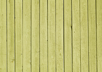 Yellow color painted wooden plank pattern.