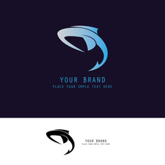 abstract dolphin logo