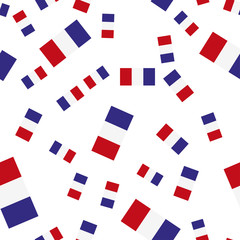 French seamless pattern with Flag. Flat vector illustration EPS 10