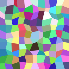 Geometrical abstract irregular polygon mosaic pattern background - polygonal vector design from rectangles