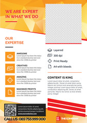 A4 Creative Company Flyer Template 10