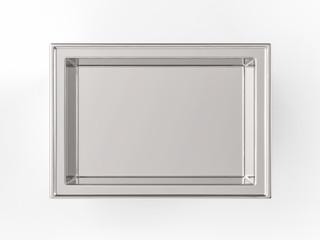 tray on white background