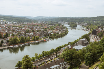 The Meuse and Namur, seen from the citadel