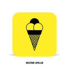 Gray Ice Cream icon isolated on background. Modern simple flat summer food sign. Business, internet concept. Trendy sweet vector symbol for website design, web button, mobile app. Logo illustration