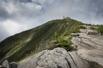 Stone Ridge with View Up To Whiteface Peak Summit in the Adirondack Mountains