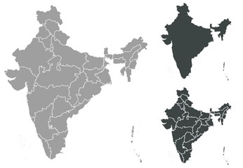 Map of India Fotomurales