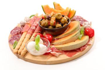 buffet food, snacks