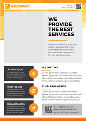The Best Creative Service Flyer template A4 style 3
