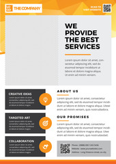 The Best Creative Service Flyer template A4 style 2
