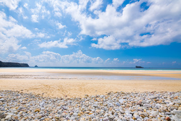 Traveling around Britanny, Beach Anse du Pen Hat, Crozon Peninsula, Britanny, France, Europe