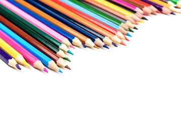 colorful pencils row