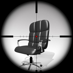 executive chair target, 3D Illustration