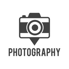 Pin Photography Retro Camera Logo
