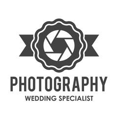 Ribbon Aperture Photography Retro Logo