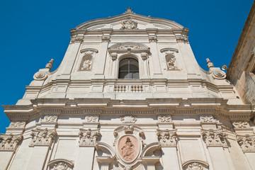 In de dag Monument Church of Carmine. Martina Franca. Puglia. Italy.
