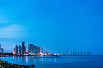 Abenddämmerung über Panama City