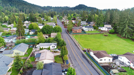 And Aerial view of a neighborhood