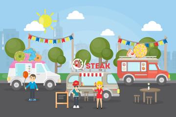 Park food festival.