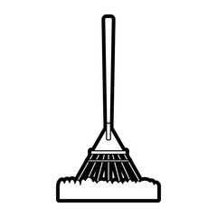 rake gardening tool icon image vector illustration draw