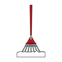 rake gardening tool icon image