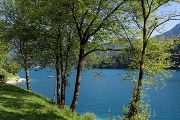 Lago di Ledro, lake in Trentino, Italy.