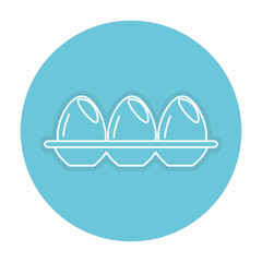 egg container isolated icon vector illustration design