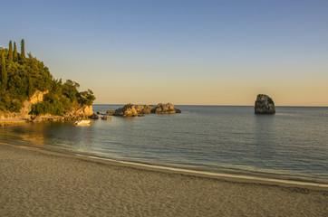 Parga Greece - sunset - city beach