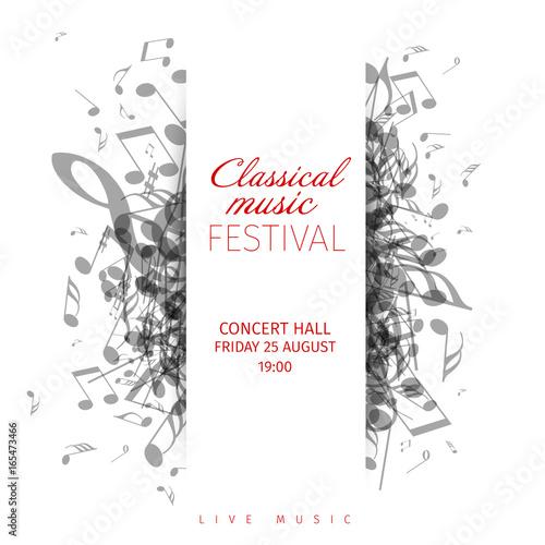 classical music concert poster template fotolia com の ストック画像