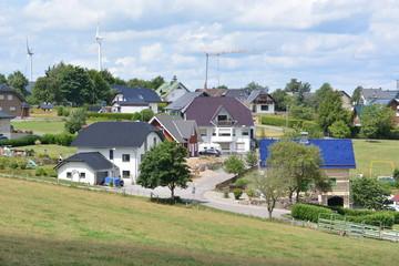 Eifel in Germany with houses