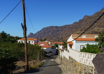 Village in the mountains, Canary Islands