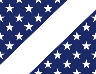 Stars blue and white banner. Vector background. American flag in style.