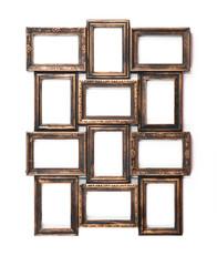 Collection of vintage, gilt frames