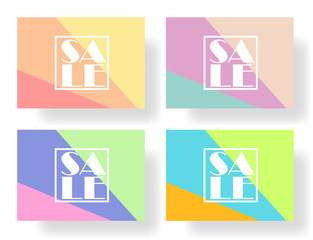 Set of colorful banners, flyers, posters for sale. Elements of infographics, vector illustration