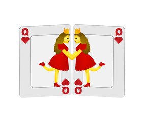 Queen of Hearts card game Gay Lesbians