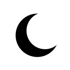 Crescent vector icon